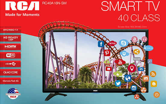 Televisión LED 40 Smart TV
