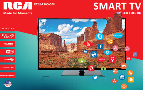 Televisión LED 58 Smart TV